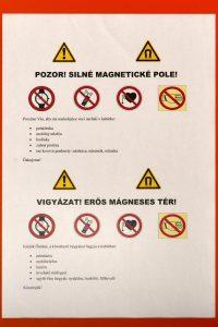 Výstrahy - silné magnetické pole